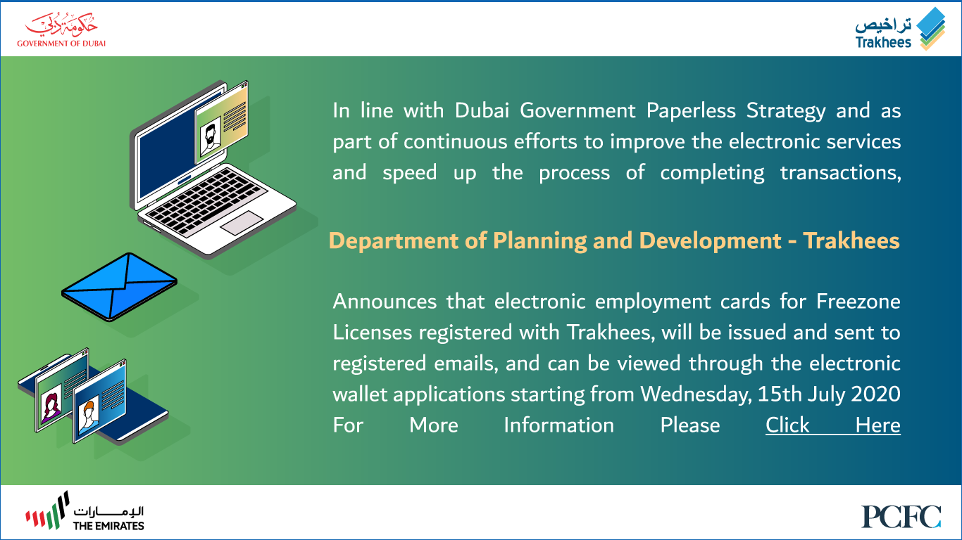Electronic Employment Cards for the Employees of Freezone Licenses Issued by Trakhees
